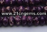 CDE2635 15.5 inches 10*14mm rondelle dyed sea sediment jasper beads