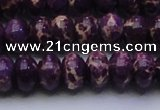 CDE2637 15.5 inches 13*18mm rondelle dyed sea sediment jasper beads