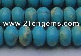 CDE2646 15.5 inches 15*20mm rondelle dyed sea sediment jasper beads