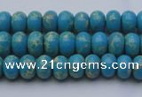 CDE2648 15.5 inches 5*8mm rondelle dyed sea sediment jasper beads