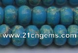 CDE2653 15.5 inches 13*18mm rondelle dyed sea sediment jasper beads