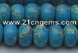 CDE2655 15.5 inches 15*20mm rondelle dyed sea sediment jasper beads