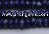 CDE2681 15.5 inches 7*10mm rondelle dyed sea sediment jasper beads