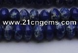 CDE2683 15.5 inches 10*14mm rondelle dyed sea sediment jasper beads