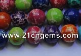 CDE2691 15.5 inches 10mm round mixed color sea sediment jasper beads