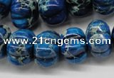CDE295 15.5 inches 13*18mm pumpkin dyed sea sediment jasper beads