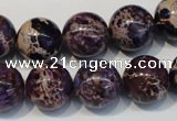 CDE365 15.5 inches 14mm round dyed sea sediment jasper beads