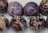 CDE368 15.5 inches 20mm round dyed sea sediment jasper beads