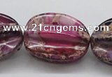 CDE37 15.5 inches 25*33mm star fruit shaped dyed sea sediment jasper beads