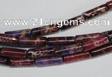 CDE376 15.5 inches 4*12mm tube dyed sea sediment jasper beads