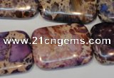 CDE440 15.5 inches 20*30mm rectangle dyed sea sediment jasper beads