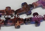 CDE450 15.5 inches 15*20mm cross dyed sea sediment jasper beads