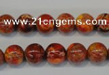 CDE493 15.5 inches 10mm round dyed sea sediment jasper beads