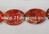 CDE533 15.5 inches 18*25mm oval dyed sea sediment jasper beads