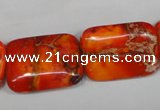 CDE556 15.5 inches 18*25mm rectangle dyed sea sediment jasper beads