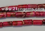 CDE591 15.5 inches 6*12mm tube dyed sea sediment jasper beads