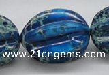CDE62 15.5 inches 25*33mm star fruit shaped dyed sea sediment jasper beads