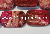 CDE634 15.5 inches 22*30mm rectangle dyed sea sediment jasper beads