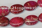 CDE645 15.5 inches 13*18mm oval dyed sea sediment jasper beads