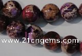 CDE697 15.5 inches 12mm round dyed sea sediment jasper beads