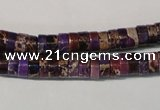 CDE704 15.5 inches 3*6mm heishi dyed sea sediment jasper beads