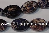 CDE710 15.5 inches 13*18mm oval dyed sea sediment jasper beads