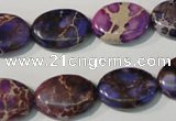 CDE711 15.5 inches 13*18mm oval dyed sea sediment jasper beads