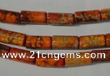 CDE736 15.5 inches 6*12mm tube dyed sea sediment jasper beads