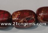 CDE771 15.5 inches 18*25mm nuggets dyed sea sediment jasper beads