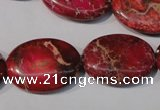 CDE783 15.5 inches 18*25mm oval dyed sea sediment jasper beads