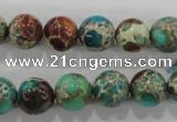 CDE804 15.5 inches 11mm round dyed sea sediment jasper beads wholesale