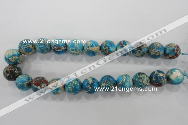 CDE808 15.5 inches 18mm round dyed sea sediment jasper beads wholesale