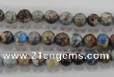 CDE812 15.5 inches 6mm round dyed sea sediment jasper beads wholesale