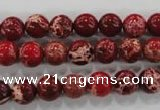CDE822 15.5 inches 8mm round dyed sea sediment jasper beads wholesale