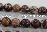 CDE844 15.5 inches 12mm round dyed sea sediment jasper beads wholesale