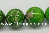 CDE85 15.5 inches 20mm round dyed sea sediment jasper beads