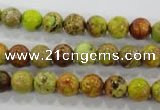 CDE861 15.5 inches 6mm round dyed sea sediment jasper beads wholesale