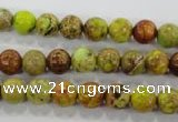 CDE862 15.5 inches 8mm round dyed sea sediment jasper beads wholesale