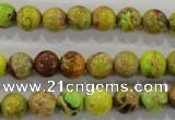 CDE863 15.5 inches 10mm round dyed sea sediment jasper beads wholesale