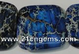 CDE903 15.5 inches 34*34mm square dyed sea sediment jasper beads