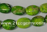 CDE940 15.5 inches 12*16mm oval dyed sea sediment jasper beads