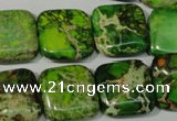 CDE946 15.5 inches 18*18mm square dyed sea sediment jasper beads