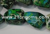 CDE961 15.5 inches 18*20mm nuggets dyed sea sediment jasper beads
