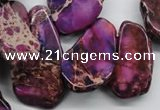 CDE981 15 inches 15*20mm – 25*48mm freeform dyed sea sediment jasper beads