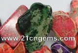 CDE983 15 inches 15*30mm – 26*55mm freeform dyed sea sediment jasper beads