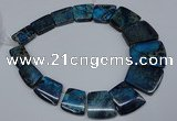 CDE993 Top drilled 18*25mm - 27*35mm trapezoid sea sediment jasper beads