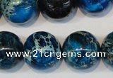 CDI222 15.5 inches 20mm round dyed imperial jasper beads