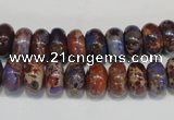 CDI371 15.5 inches 6*10mm rondelle dyed imperial jasper beads