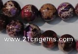 CDI697 15.5 inches 12mm round dyed imperial jasper beads