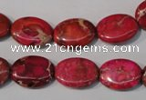 CDI782 15.5 inches 12*16mm oval dyed imperial jasper beads